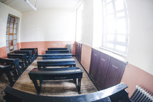Empty Vintage Classroom From Old Times