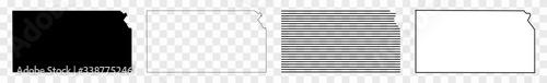 Obraz Kansas Map Black | State Border | United States | US America | Transparent Isolated | Variations - fototapety do salonu