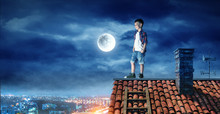 Boy On The Roof And The Moon.