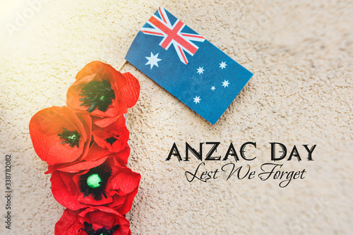 Photo anzac day - Australian and New Zealand national public holiday, australian flag