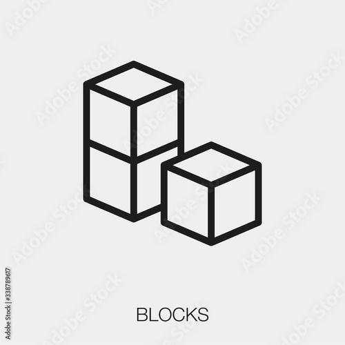 block icon vector Canvas-taulu