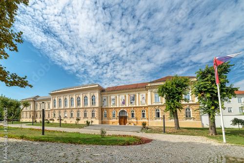 Novi Sad, Serbia - September 17,2019: Building of Museum of Vojvodina at the center of the City of Novi Sad, Vojvodina, Serbia Canvas Print