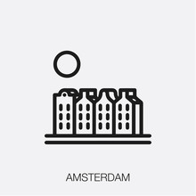 Amsterdam Icon Vector Sign Symbol