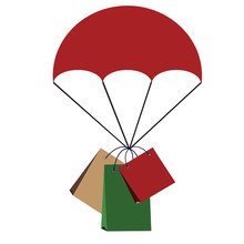 Parachute With Shopping Bag On...