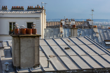 Detail of the rooftops in Montmartre, paris, France
