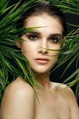 Fototapeta Do Spa beautiful woman charm clean skin spa treatments