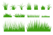Green Grass Vector Set.
