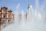 Fountain Outside Plaza De Espana Against Clear Sky