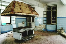 View Of An Abandoned Kitchen
