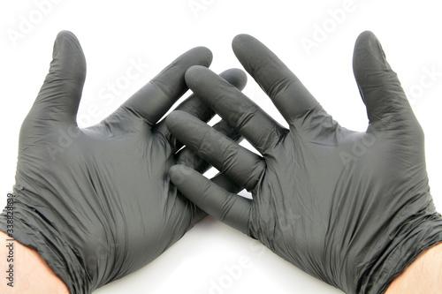 Obraz rękawiczki jednorazowe - fototapety do salonu