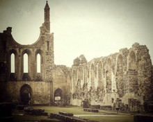 Old Ruined On Byland Abbey