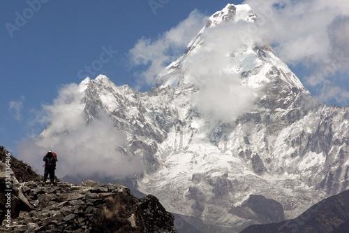 Photo Scenic View Of Ama Dablam Mountain
