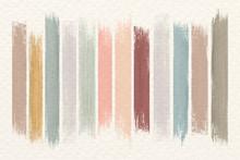 Earth Tone Paint Brush Strokes