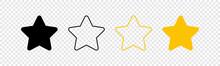 Stars Icons. Stars In Linear F...