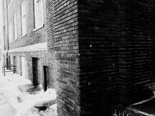 Snow Beneath Of Building