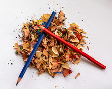 Colored Pencil Shavings Pile A...