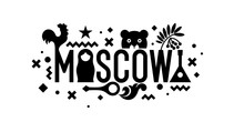 Stylish Inscription Moscow For...