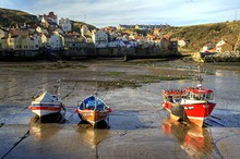 Staithes Harbour, Yorkshire