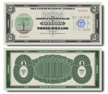 Fictional Three US Dollars Ded...