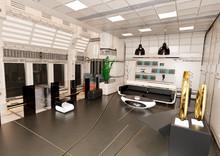 3D Rendering Space Ship Indoor