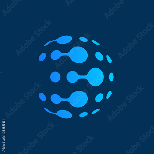 Leinwand Poster Connection technology logo abstract template