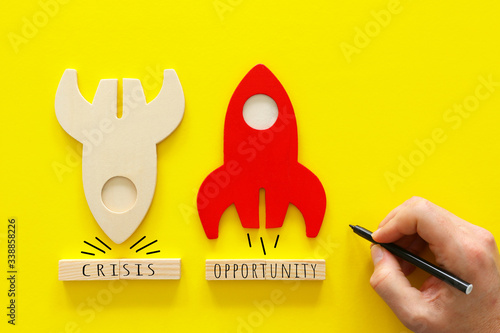 Cuadros en Lienzo concept image of crisis and opportunity