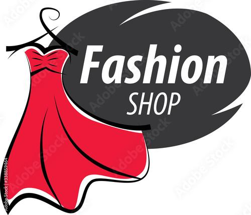 logo fashion shop, illustration, isolated, lady Wall mural