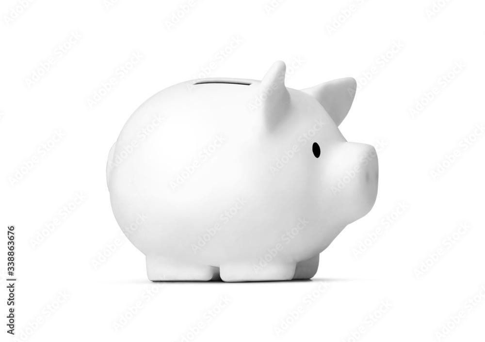 Fototapeta Piggy bank isolated on white background