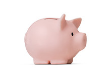 Piggy Bank Isolated On White B...