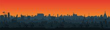 Long City Skyline Silhouette I...