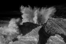 Exploding Waves At Seashore