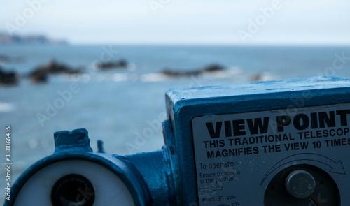 Fotografie, Obraz Viewpoint Telescope By Sea Against Sky