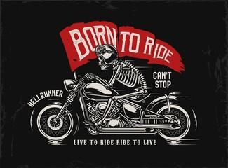 Motorcycle vintage print