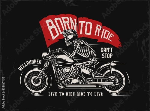 Fototapeta Motorcycle vintage print