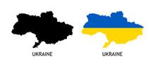 Silhouette Of Ukraine Black Co...