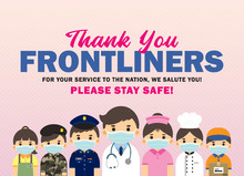 Thank You Frontliners Who Work...