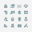 Business and finance web icon set