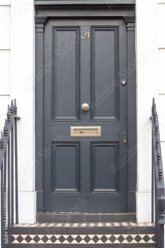 Stately front door in London