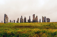 The Callanish Stones At Isle Of Lewis, Outer Hebrides, Scotland, UK