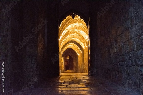 Fototapeta Illuminated Archway Of Gloucester Cathedral
