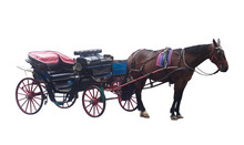 Horse Carriage Couch Isolated ...