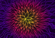 Glowing Psychedelic Abstract F...