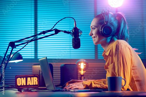 Photo Radio broadcasting on air