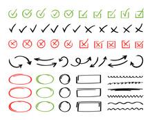 Super Set Hand Drawn Check Mar...