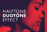 Duotone Effect with Halftone Pattern - 338913875