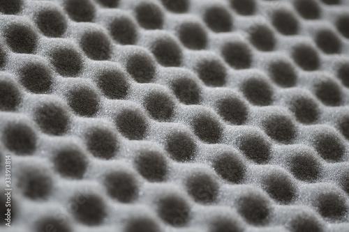 Abstract texture of grey soundproof acoustic foam with diagonal selective focus Tapéta, Fotótapéta
