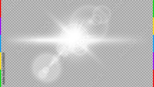 Vector transparent sunlight special lens flare light effect Canvas Print