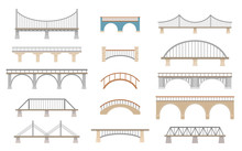Set Of Different Bridges. Isol...