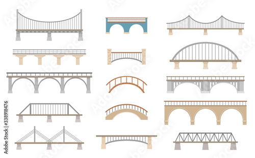 Set of different bridges Tapéta, Fotótapéta