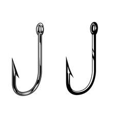 Fishing Hooks Vintage Concept